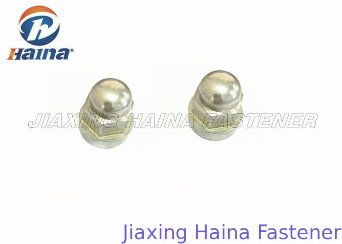 White Zinc Plated Hex Head Nuts Carbon Steel For Electronic Machines Grade 8.8
